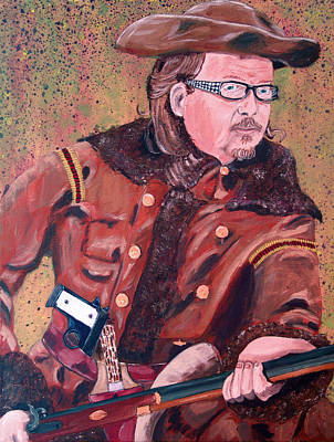 Painting - Buffalo Bill Rides Again by Kevin Callahan