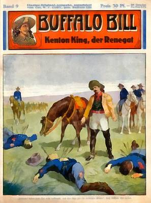 Buffalo Bill The Renegade  Art Print by Dime Novel Collection