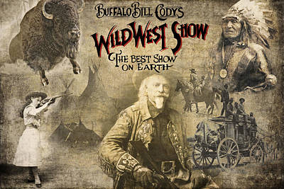 Buckskin Digital Art - Buffalo Bill Wild West Show by Daniel Hagerman