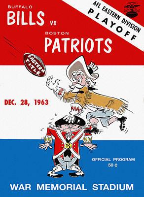 Buffalo Bills 1963 Playoff Program Art Print