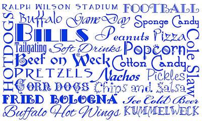 Digital Art - Buffalo Bills Game Day Food 1 by Andee Design