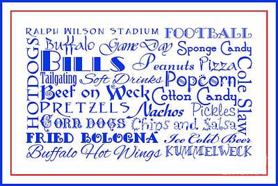 Digital Art - Buffalo Bills Game Day Food 3 by Andee Design