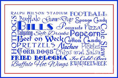 Digital Art - Buffalo Bills Game Day Food 3 by Andee Design