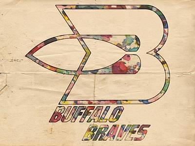 Basketball Painting - Buffalo Braves Vintage Poster by Florian Rodarte