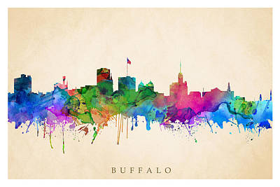 Digital Art - Buffalo Cityscape by Steve Will