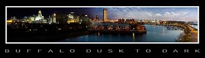 Buffalo Dusk To Dark 2 Art Print by Peter Chilelli