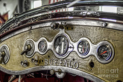 Buffalo Fire Appliance Dash Art Print