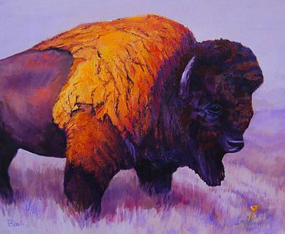 Buffalo Flower Art Print by Ritch Gaiti