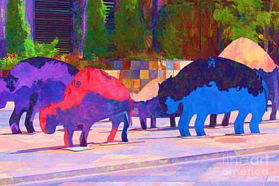 Photograph - Buffalo Herd by Audreen Gieger