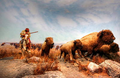 Print featuring the photograph Buffalo Hunt by Larry Trupp