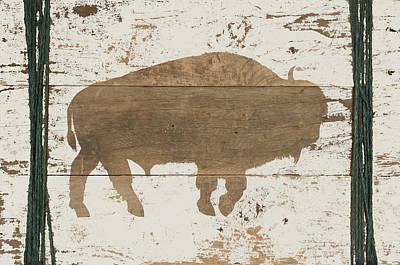 Wood Buffalo Painting - Buffalo In Reverse by Ramona Murdock