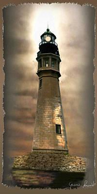 East Coast Lighthouse Painting - Buffalo Main Lighthouse by Regina Femrite