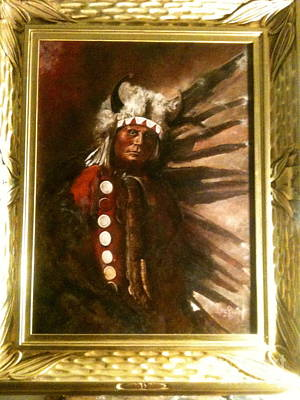 Painting - Buffalo Man by Lane Baxter
