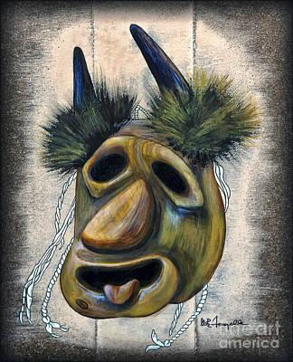 Painting - Buffalo Mask by Walt Foegelle