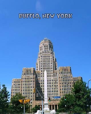 City Hall Digital Art - Buffalo New York City Hall by Michael Wickham