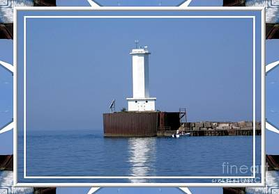 Photograph - Buffalo New York Outer Breakwater Lighthouse by Rose Santuci-Sofranko