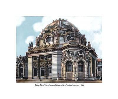 Buffalo New York - Temple Of Music - Pan American Exposition - 1901 Art Print