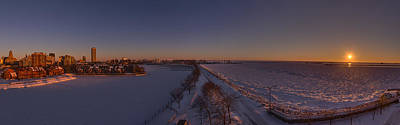 Photograph - Buffalo New York Winter Sunset by Chris Bordeleau