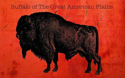 Digital Art - Buffalo Of The Great American West by Sandra Selle Rodriguez