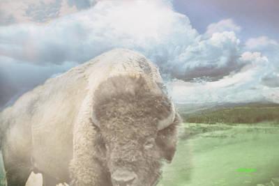 Bison Digital Art - Bison Prints by KJ DePace