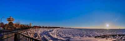 Photograph - Buffalo Outer Harbor Winter Sunset by Chris Bordeleau