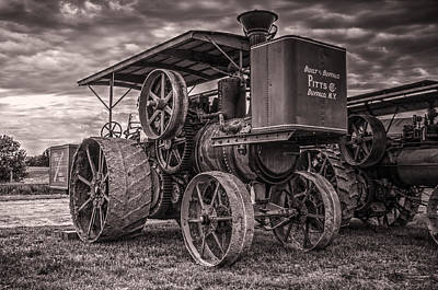 Buffalo Pitts Steam Traction Engine Art Print