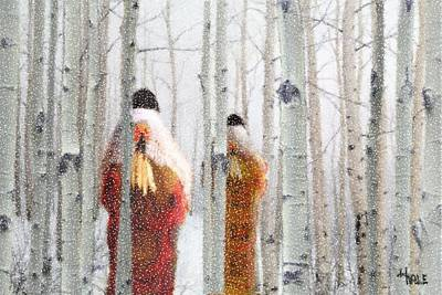 Digital Art - Buffalo Robes In Winter by Roger D Hale