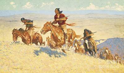 Painting - Buffalo Runners - Big Horn Basin by Pg Reproductions
