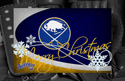 Buffalo Sabres Christmas Art Print by Joe Hamilton