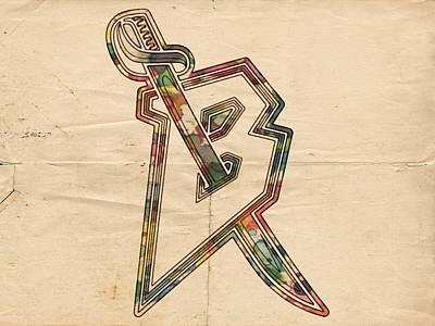 Nhl Painting - Buffalo Sabres Retro Logo by Florian Rodarte