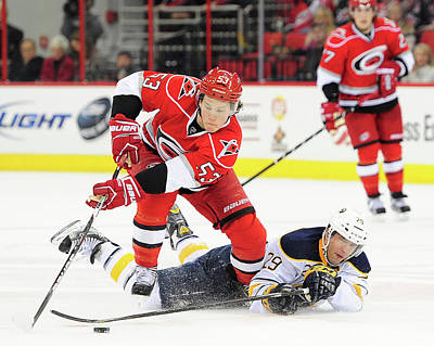Photograph - Buffalo Sabres V Carolina Hurricanes by Grant Halverson