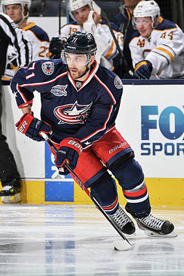 Photograph - Buffalo Sabres V Columbus Blue Jackets by Jamie Sabau