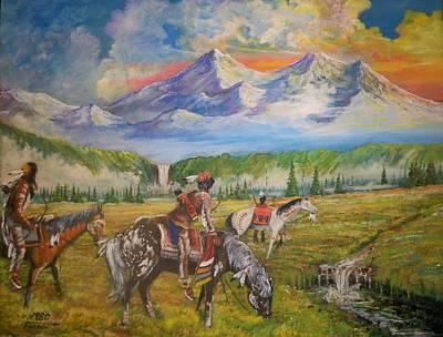 Buffalo Scouts Art Print