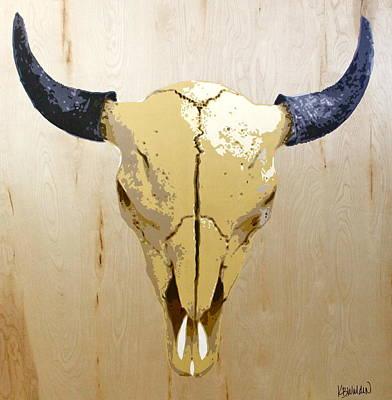 Buffalo Skull Painting - Buffalo Skull by Boughton Walden