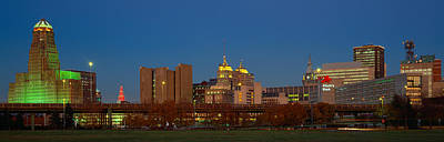 Buffalo, Skyline At Dusk, New York Art Print by Panoramic Images