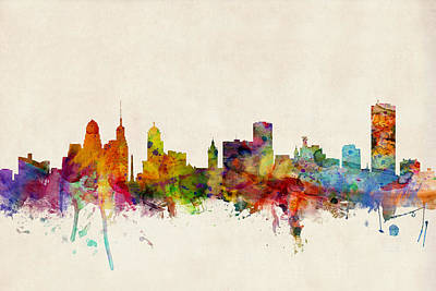 Buffalo Skyline Art Print