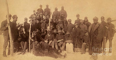 War Is Hell Photograph - Buffalo Soldiers by Celestial Images