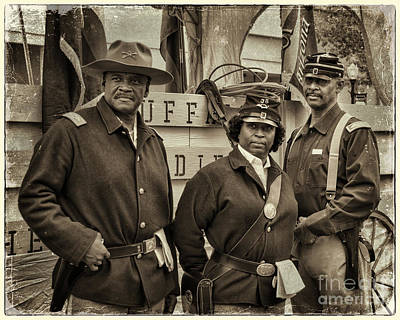 Prescott Photograph - Buffalo Soldiers Reenactors by Priscilla Burgers