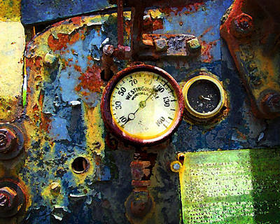 Photograph - Buffalo Springfied Roller Gauges by Timothy Bulone