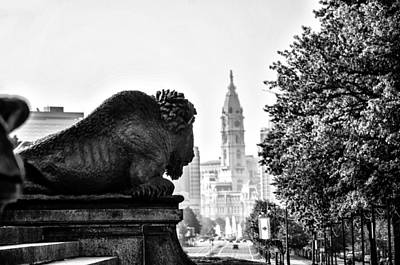 Buffalo Statue On The Parkway Art Print by Bill Cannon