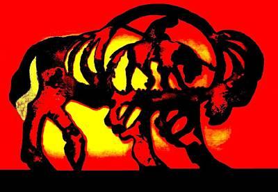 Buffalo Sun Set Art Print