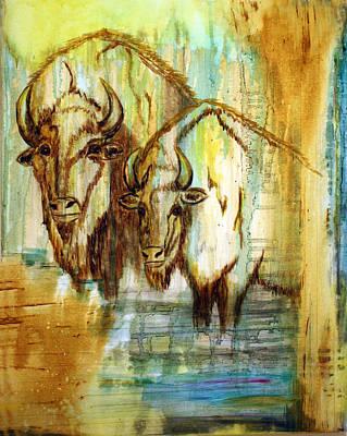 Art Print featuring the painting Buffalo Waters by Jennifer Godshalk