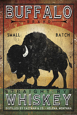 Bison Painting - Buffalo Whiskey by Ryan Fowler
