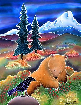 Brown Bear Painting - Buffaloberries In Autumn by Harriet Peck Taylor