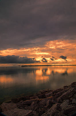 Photograph - Buffalo's Inner Harbor At Sunset by Guy Whiteley