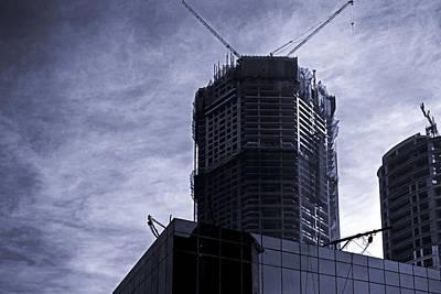 Cloud Like Glass Photograph - Bug Building Shapes Of Urban Landscape by Kantilal Patel