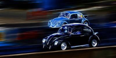 Photograph - Bug Race by Steve McKinzie