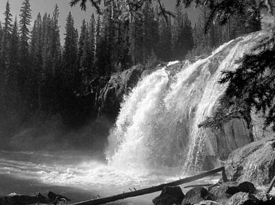 Photograph - Bugaboo Falls Bw by Gerry Bates