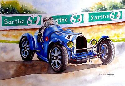 Bugatti 35b Art Print by Anne Dalton