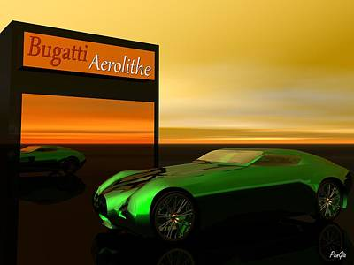 Digital Art - Bugatti Aerolithe by John Pangia
